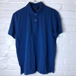Hugo boss blue polo shirt medium